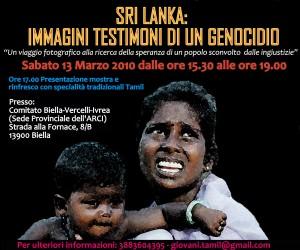Per il popolo Tamil