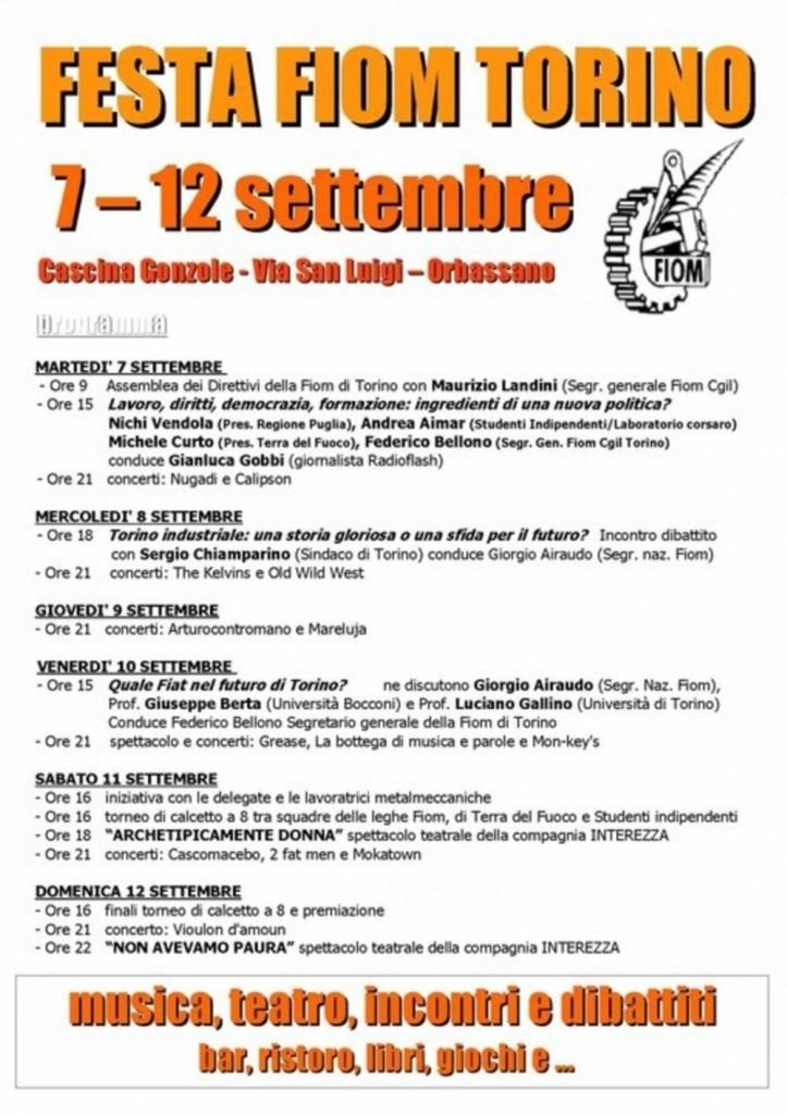 Festa Fiom a Torino