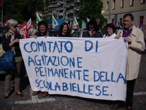 Il Comitato d'agitazione permanente delle scuole biellesi contro il Concorso.