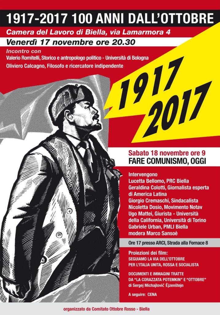 Biella, 17-18 Novembre :: Convegno 100 anni dall'Ottobre