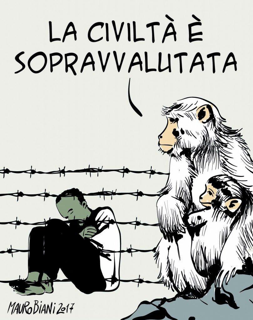"""E' qui """"la frontiera dove l'Europa ha perso l'anima"""". ...di Marco Revelli"""