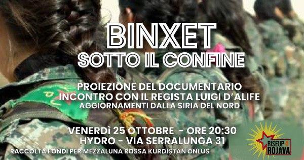 Biella, 25 ottobre :: proiezione di Binxet. Sotto il confine