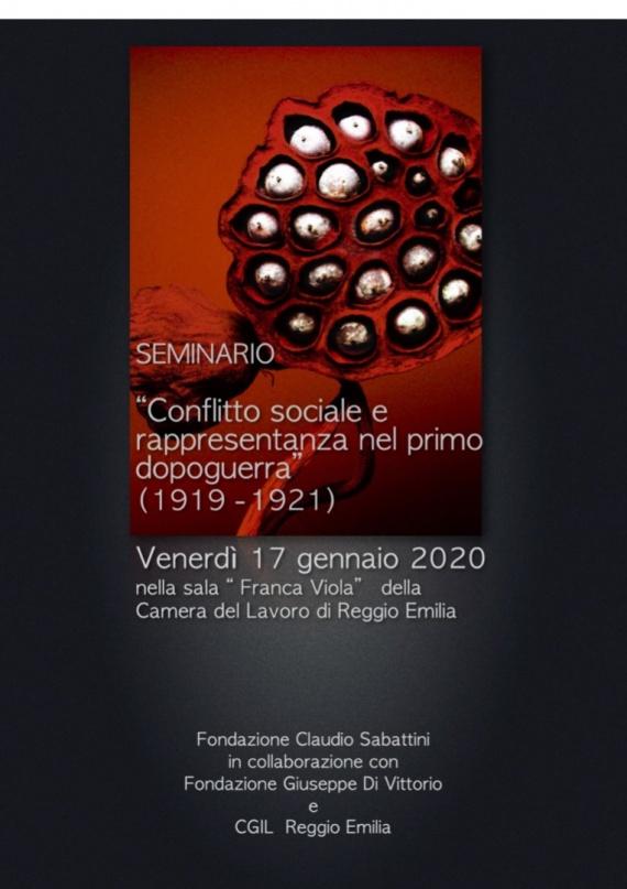 Reggio Emilia, 17/1/2020 :: Conflitto sociale e rappresentanza nel primo dopoguerra