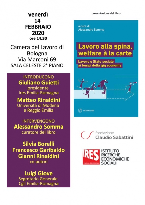 Bologna 14/2 :: Lavoro alla spina welfare à la carte